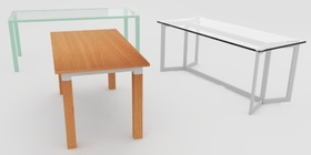 Wooden tables for offices