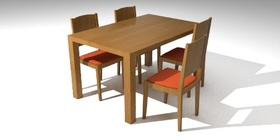 Chairs and square table