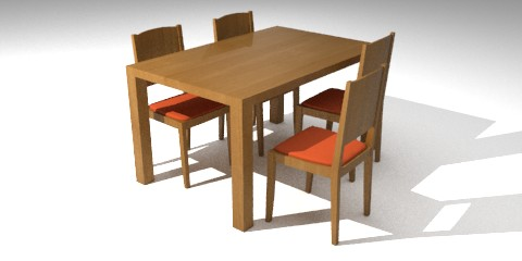 Table And Chairs Resources Free 3d Models For Blender Sweethome3d And Others