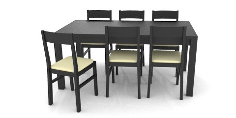 Table And Chairs Dark Color Resources Free 3d Models For Blender Sweethome3d And Others