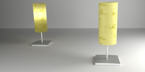 Table lamp rendered with yafaray