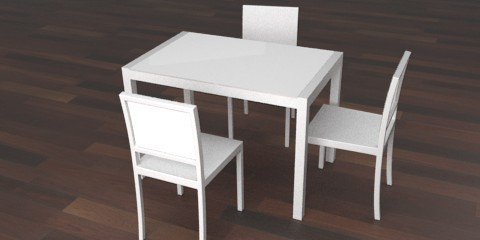 White kitchen table – Resources – Free 3D models for blender ...