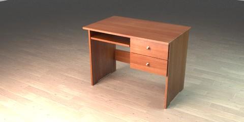 Wooden desk for kids - Resources - Free 3D models for ...