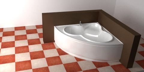 Corner bathtub – Resources – Free 3D models for blender ...
