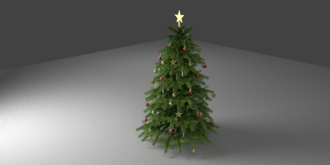 3dSkyHost: Christmas tree 01 3d model