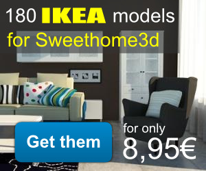180 IKEA Models For Sweet Home 3D