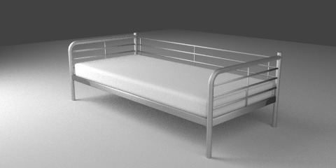 SVARTA_Day-bed_frame_silver-colour